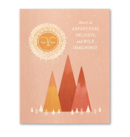 Love Muchly Greeting Card - Here's To Adventure, Delights and Wild Imaginings