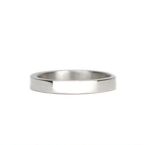 Stacking Sterling Silver Flat Band Ring 3mm