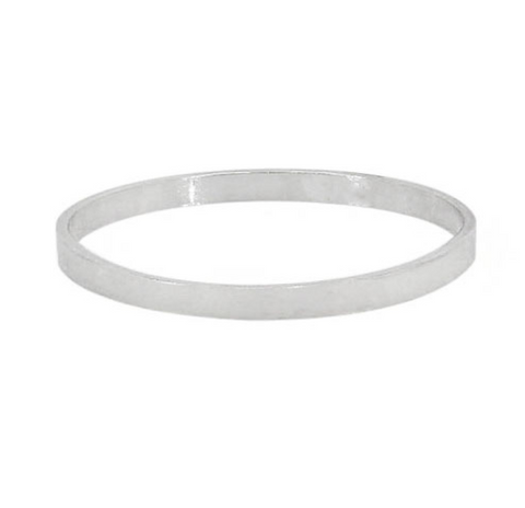 Stacking Sterling Silver Flat Band Ring 1mm