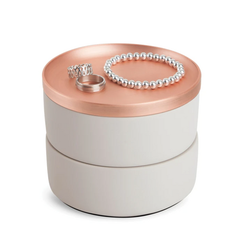 Umbra Tesora Storage Box Concrete-Copper