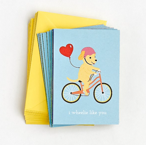 Paper Source - Wheeled Critters Valentine Cards