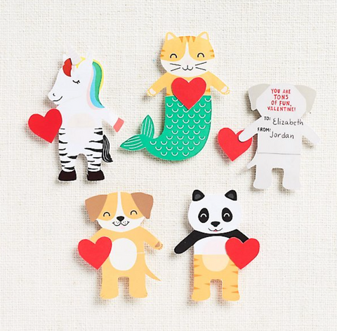 Paper Source - Mix and Match Critter Valentine Card Kit