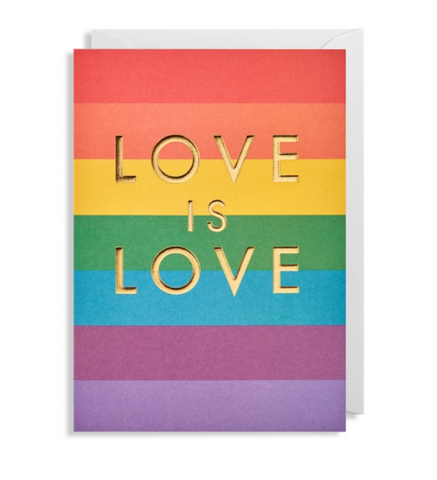Lagom Design - Rainbow Love is Love Greeting Card