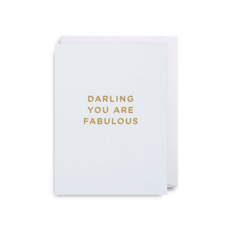 Lagom Design - Mini Card - Darling You Are Fabulous