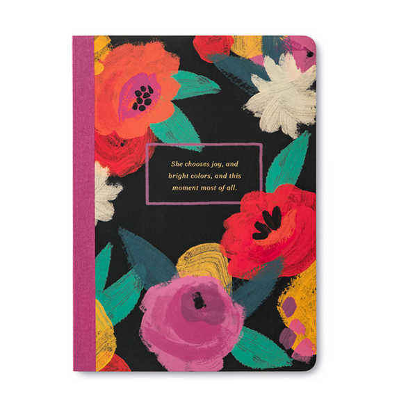 Her Words Composition Notebook She Chooses Joy, And Bright Colours...