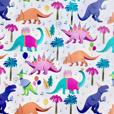 Gift Wrap Roll Dino Party
