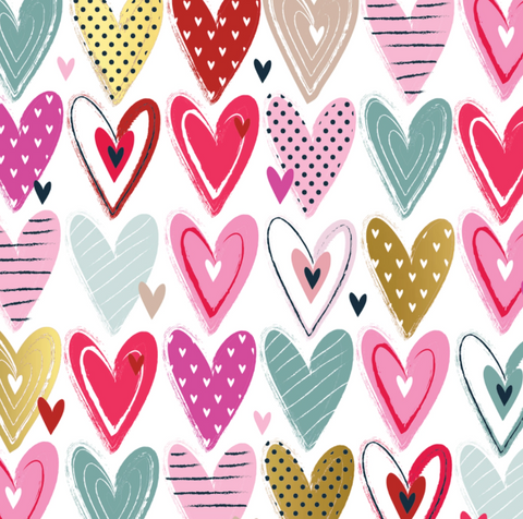 Gift Wrap Roll Pretty Hearts