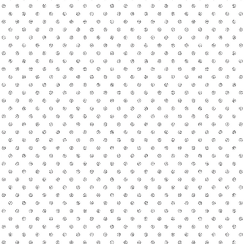 Gift Wrap Roll Silver Dots On White