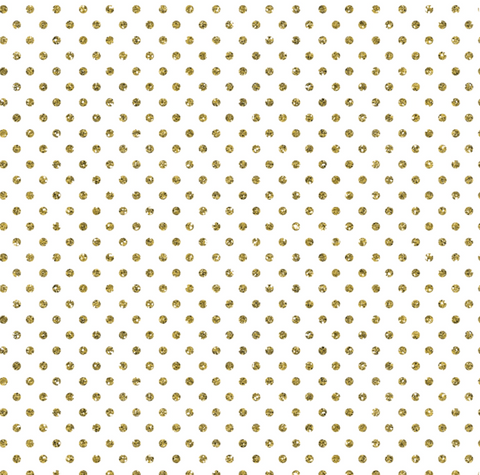 Gift Wrap Roll Gold Dots On White
