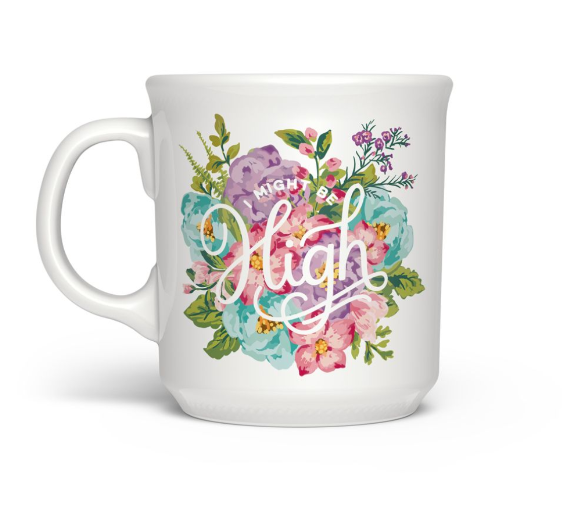 "Fred & friends Say Anything ""I Might Be High"" Mug"