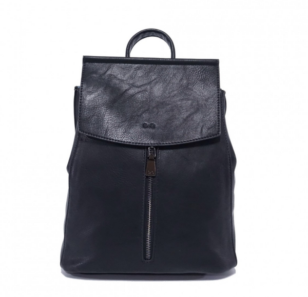 S-Q Chloe Convertible Backpack - Black