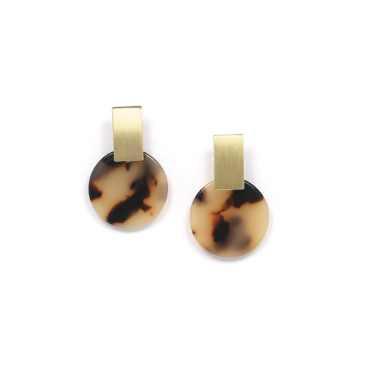 Lover's Tempo Earrings Jupiter Drop Earrings - Tortoise