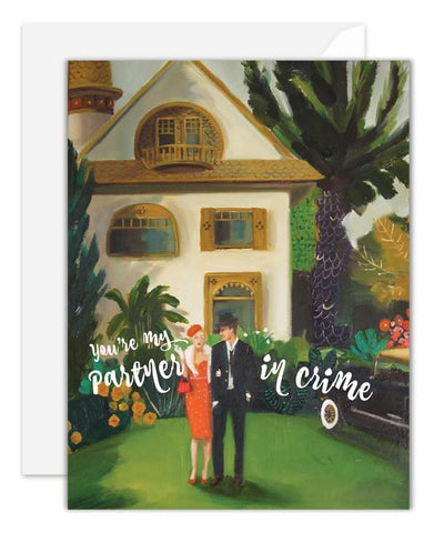 Janet Hill Studio Card - Partner in Crime