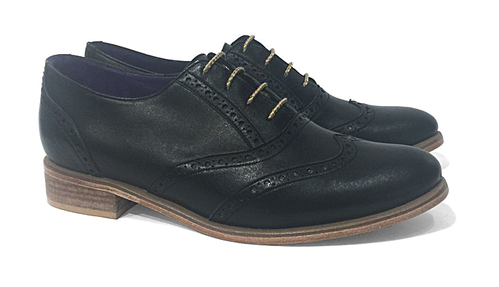 Women's Veneto Wingtip Brogue Black