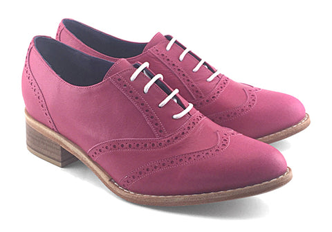 Women's Veneto Wingtip Brogue Hot Pink