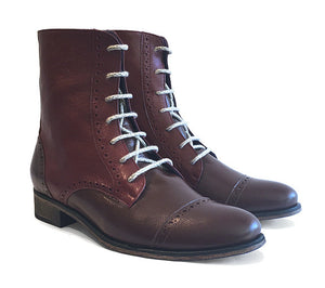 Women's Veneto Derby Two Tone Burgundy