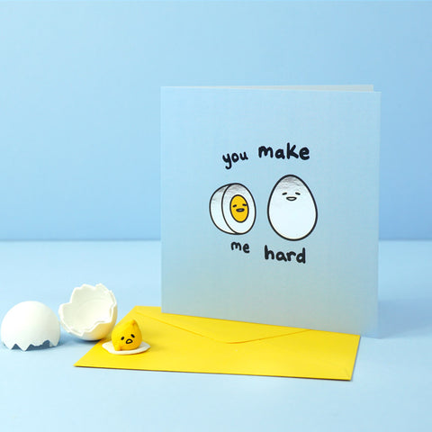 Gudetama x Jolly Awesome - You Make Me Hard Greeting Card