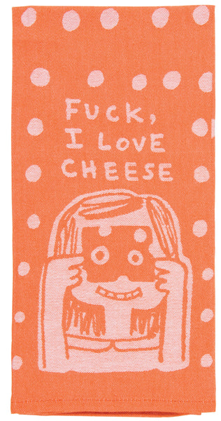 Blue Q Dishtowel Fuck, I Love Cheese