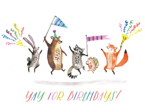 Halfpenny Card - Critter Birthday