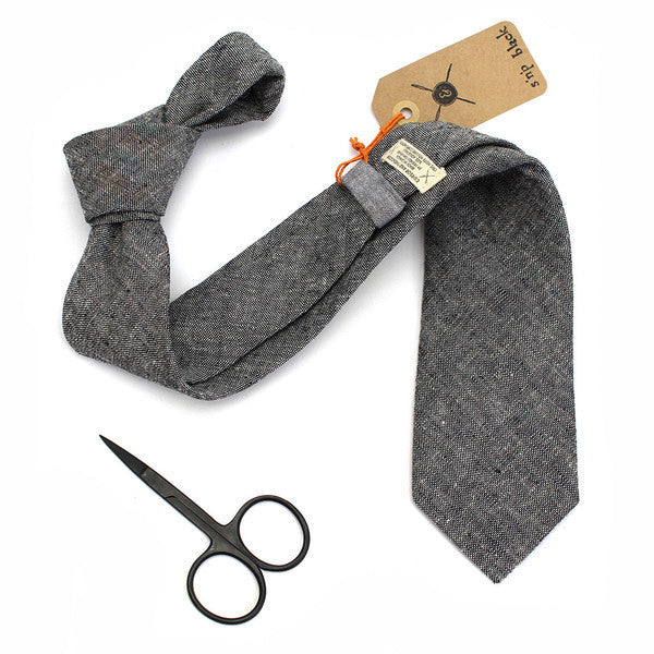 Accessories - Neck Tie - S'n'P Linen Black