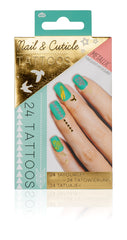 Metallic Nail & Cuticle Tattoos