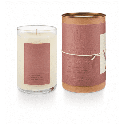 Elemental Natural Glass Candle Citrus Cedarleaf