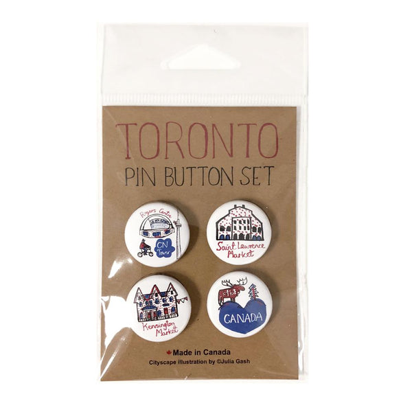 CityScapes Toronto Pin Button Set