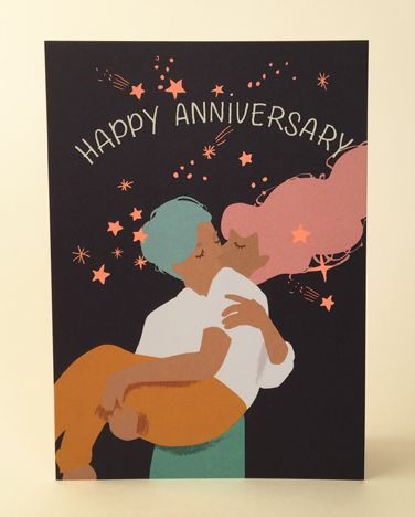 Noi Publishing Card - Happy Anniversary Stars
