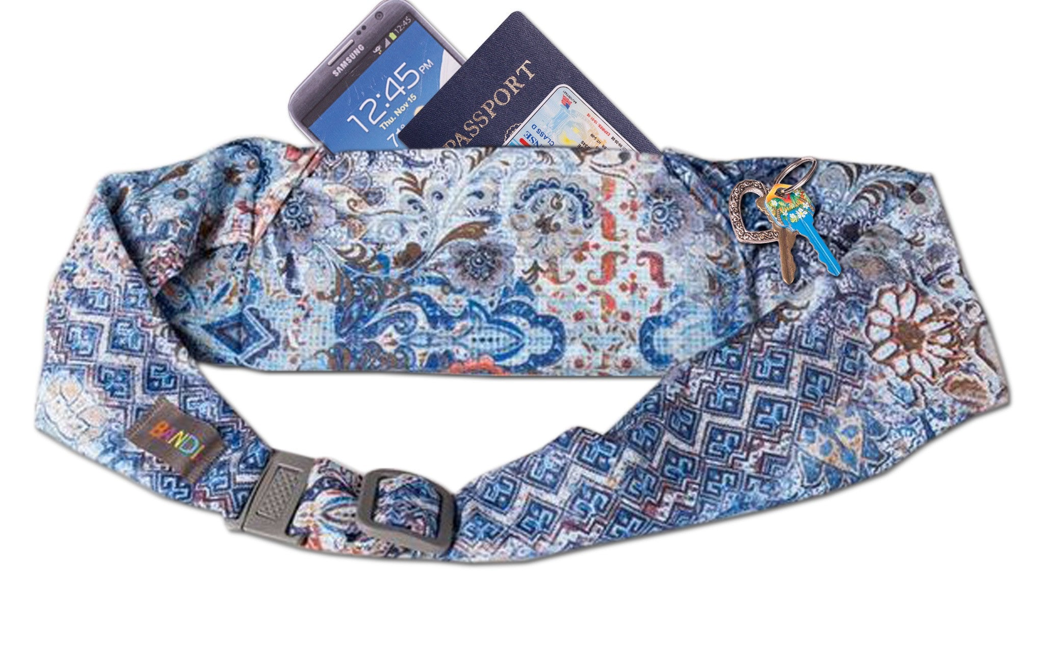 Indigo Garden Large Pocket Belt