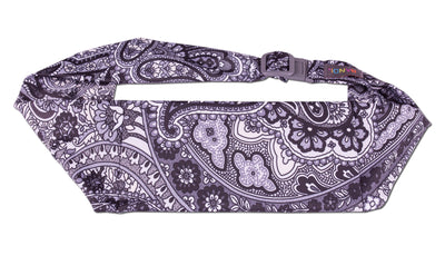 Black Paisley Large Pocket Belt