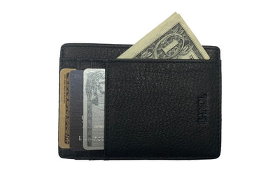 Black Slim RFID Wallet