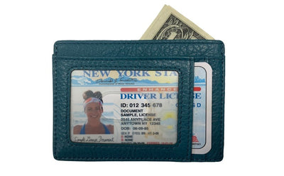 Teal Slim RFID Wallet