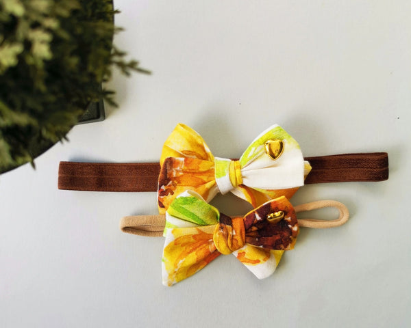 Pinwheel Sunflower Bow