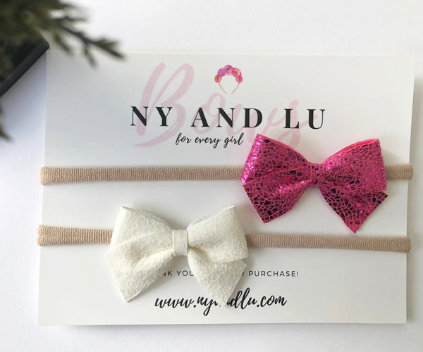 Set of 2 Petite Crossover Bows
