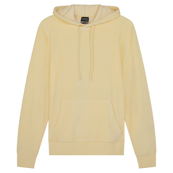 Oversized Towelling Hoody - Yellow