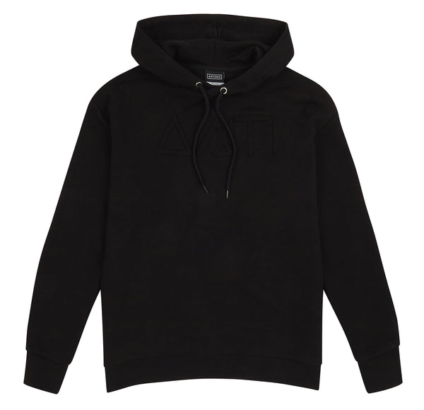 SYMBOLS PRINT HOODED SWEATSHIRT