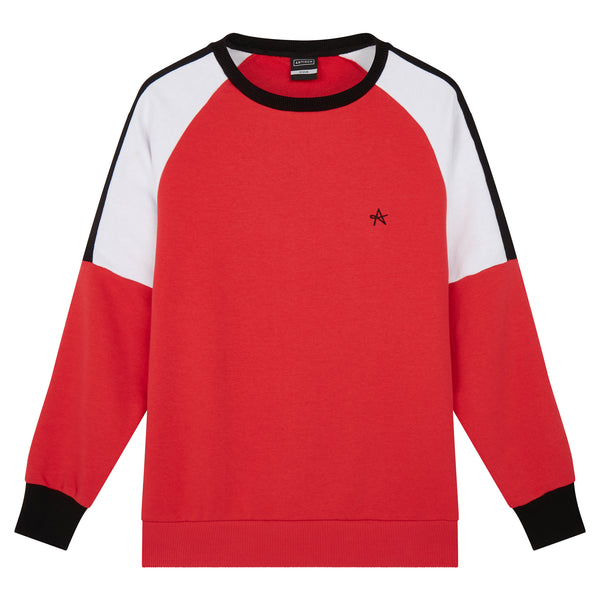 Joules Raglan Sweat - Red