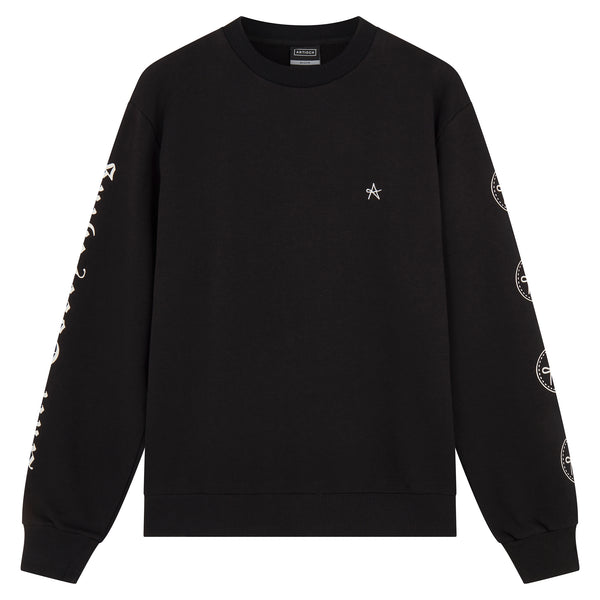 GG Sweat with Sleeve Prints - Black