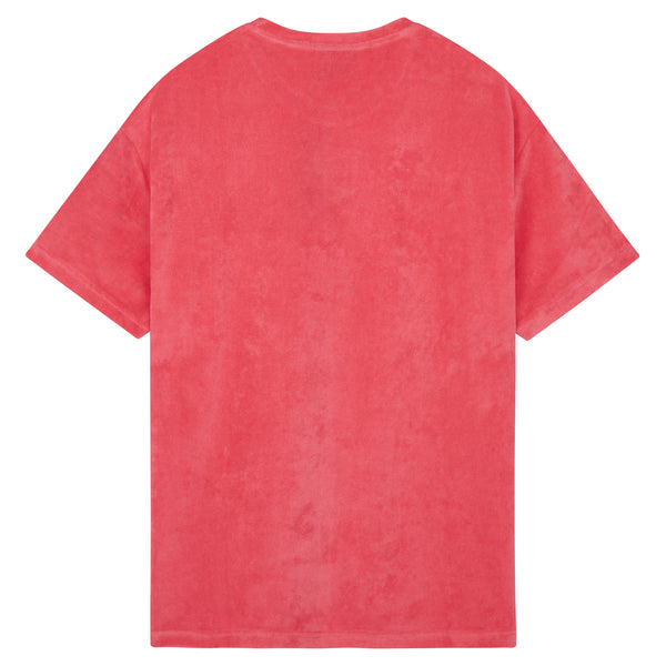 Oversized Towelling T-Shirt - Pink