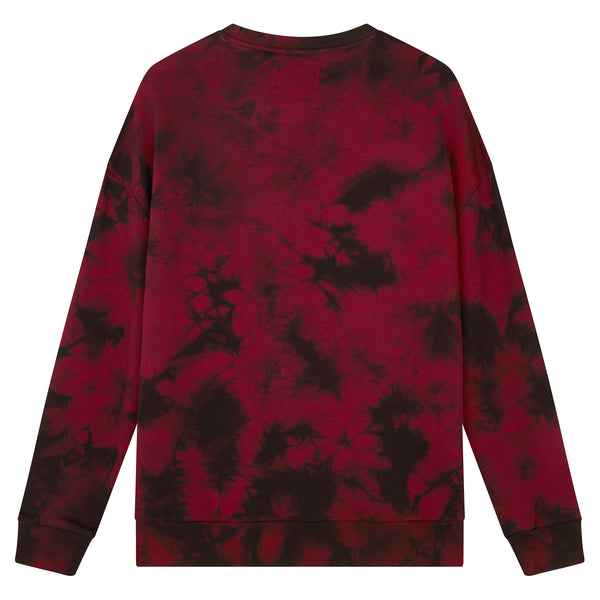 Tie Dye Sweat - Burgundy