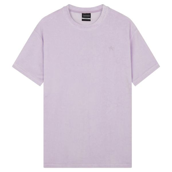 Oversized Velour T-Shirt - Lilac