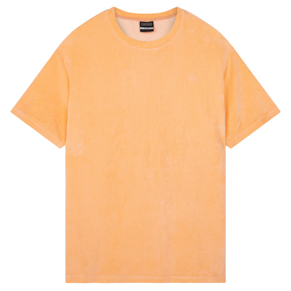 Oversized Towelling T-Shirt - Coral