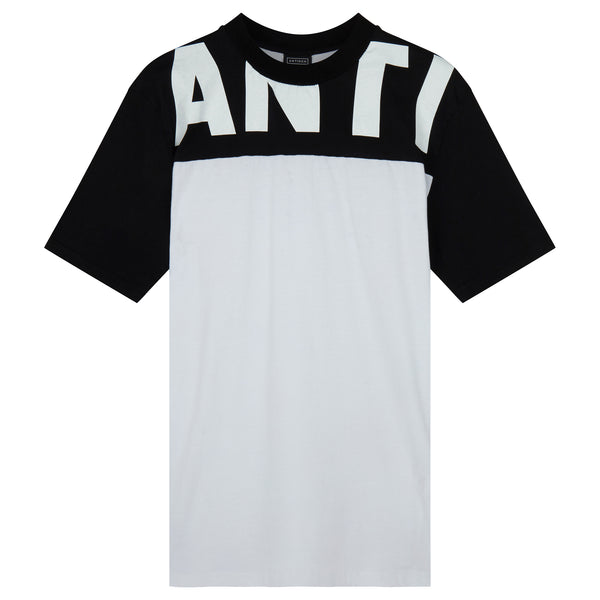 ANTI Block Panel T-Shirt - White