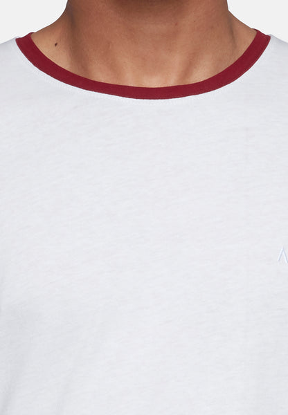 ANTIOCH WHITE T-SHIRT WITH CONTRAST COLOUR SLEEVES