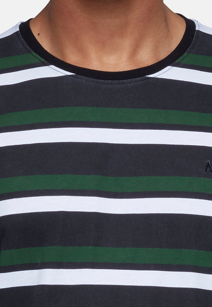 ANTIOCH MULTI COLOURED STRIPE T-SHIRT