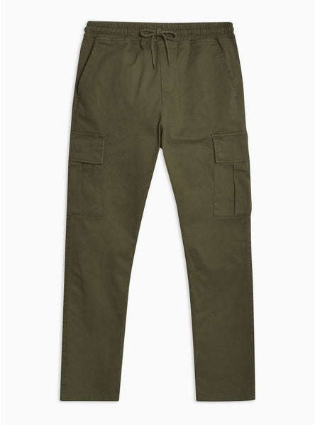 ANTIOCH KHAKI ELASTICATED CARGO PANT