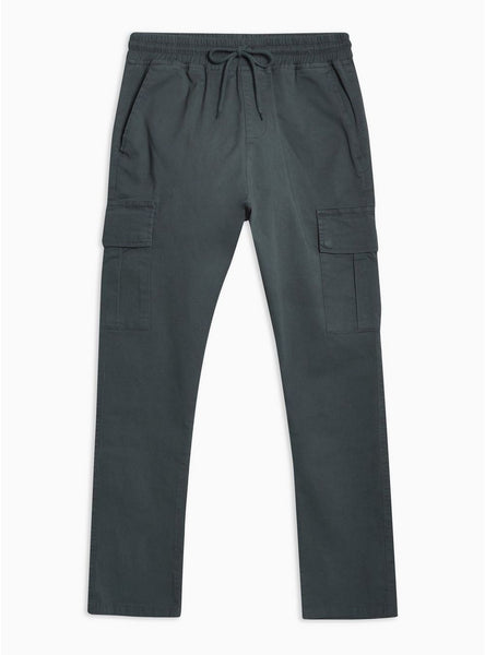 ANTIOCH GREY BLUE ELASTICATED CARGO PANT