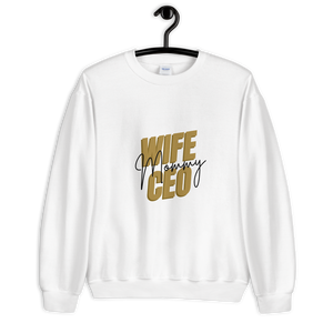 Open image in slideshow, Wife Mommy CEO Sweatshirt | White