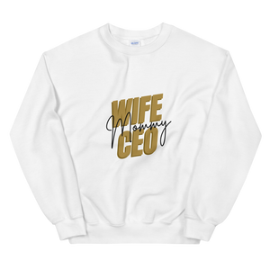 Wife Mommy CEO Sweatshirt | White