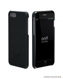iPhone Leder Covers (Schwarz)